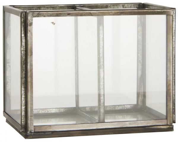 Ib Laursen Glasbox offen mit 2 Fächern