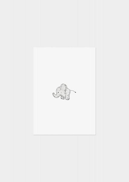 Postkarte Glückwunschkarte Elefant