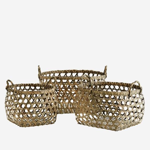 Madam Stoltz Bambus-Körbe Korb Basket Bambus Bamboo