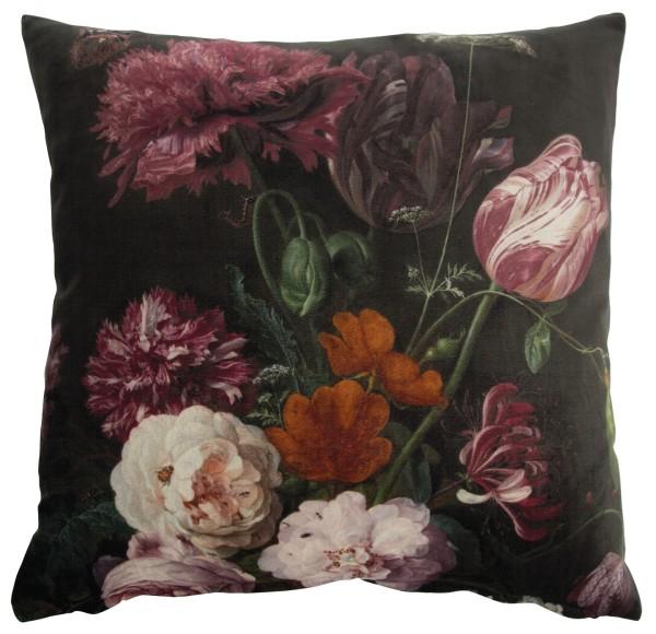 AU Maison Kissen Flower schwarz