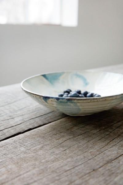 House Doctor Bowl Schüssel Mio Blau/Weiß
