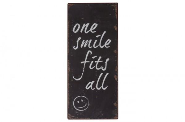 Metallschild Ib Laursen One Smile fits all