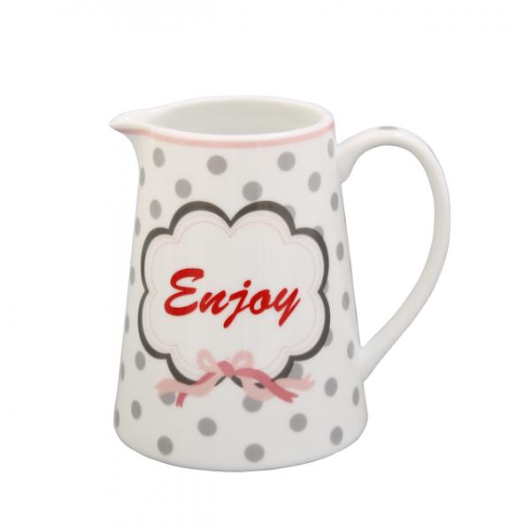 Krasilnikoff Milchkännchen Enjoy Kanne grau Dots