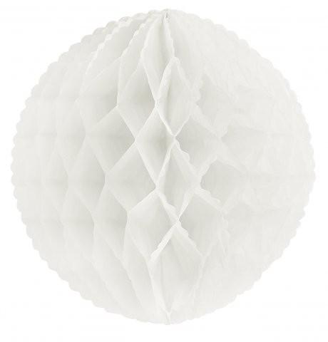 Weißer Wabenball im Retrostil Honey comb
