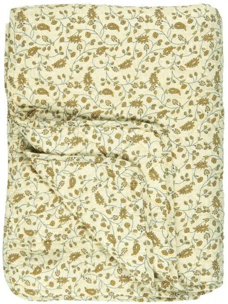 Quilt Flowers hellgelb Tagesdecke Decke Plaid Ib Laursen