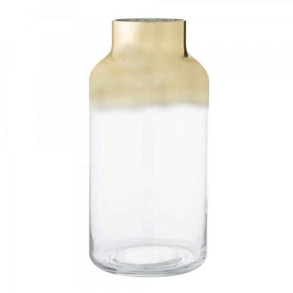 Bloomingville Vase aus Glas mit goldfarbenen Akzent