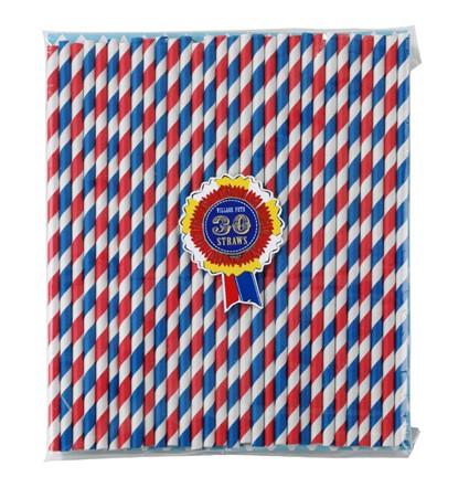 Paper Straws rot-blau-weiß