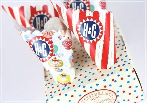 Candy Buffet Tüte für Süssigkeiten mit Ständer