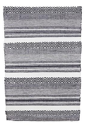House Doctor Teppich INKA schwarz/weiß 60 x 90