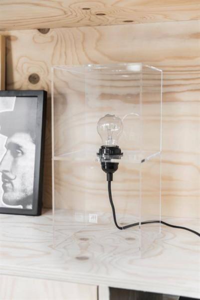 HKliving Tischlampe Plexiglas dimmbar