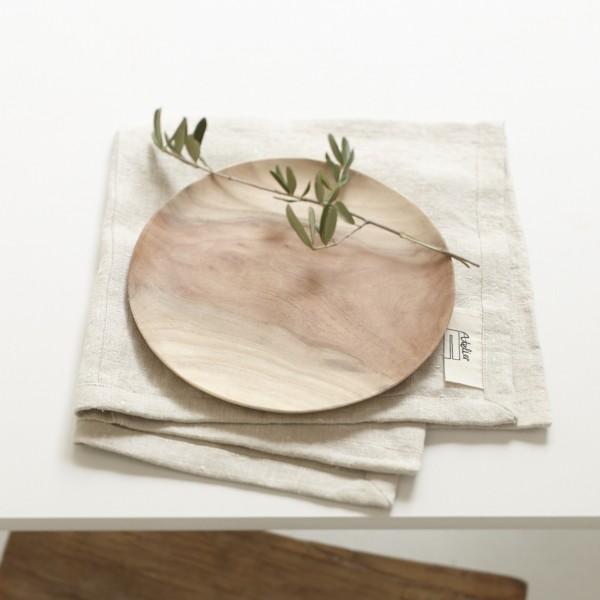 Teller Plate Holz Neem Sukha Amsterdam