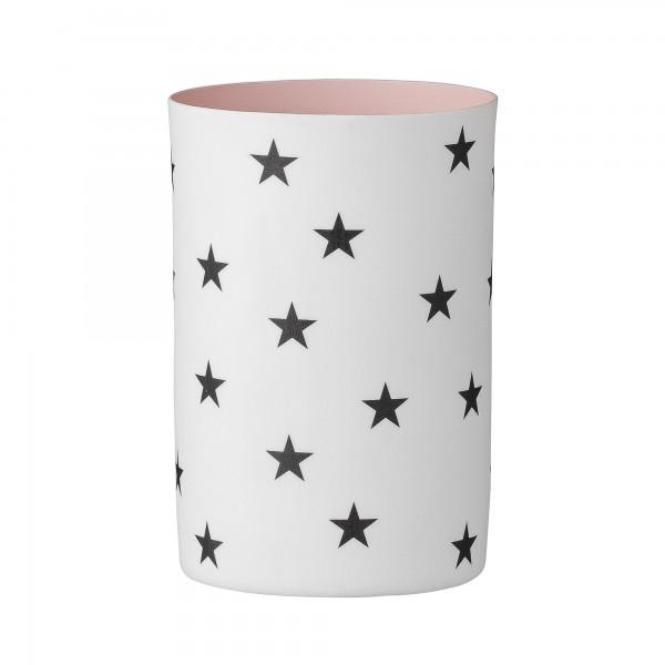 Bloomingville Teelicht Sterne weiss/ rosa