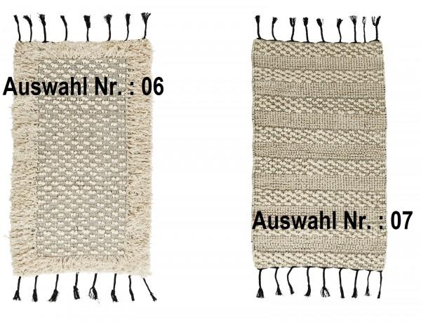 Madam Stoltz Teppich NATURAL 2 verschiedene Muster