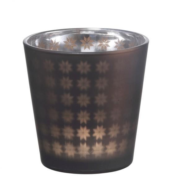 Madam Stoltz Teelicht Windlicht Star bronze