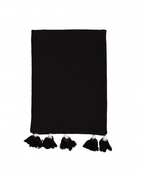 Madam Stoltz Handtuch BLACK PURE COTTON