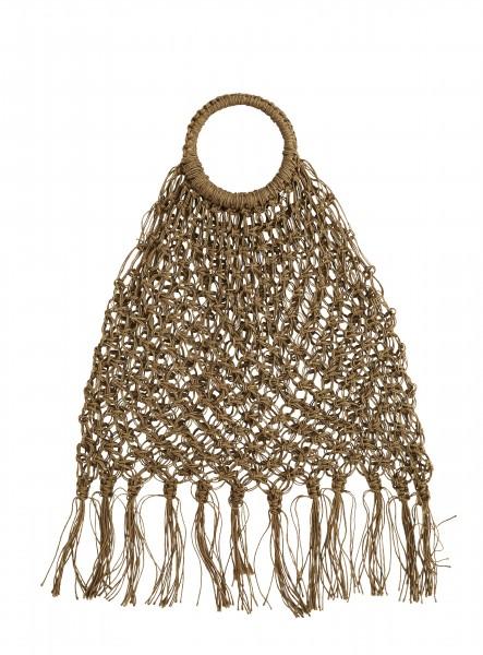 Jute Macrame Bag Tasche mit Fransen