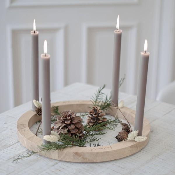 Holz Adventskranz 36 cm