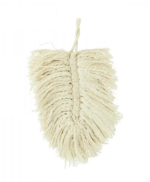 Makramee Feder Blatt Wanddeko Boho Baumwolle