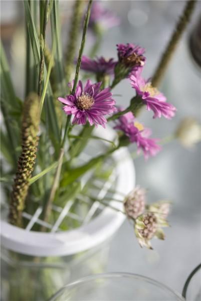 Deckel mit Netz für Blumenvase/Marmeladenglas