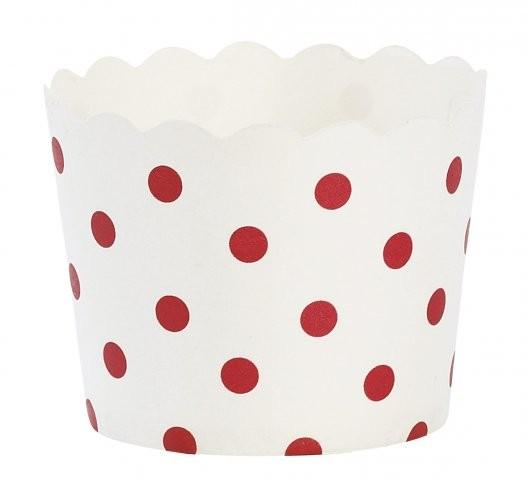 Miss Etoile Papier Backförmchen Punkte rot