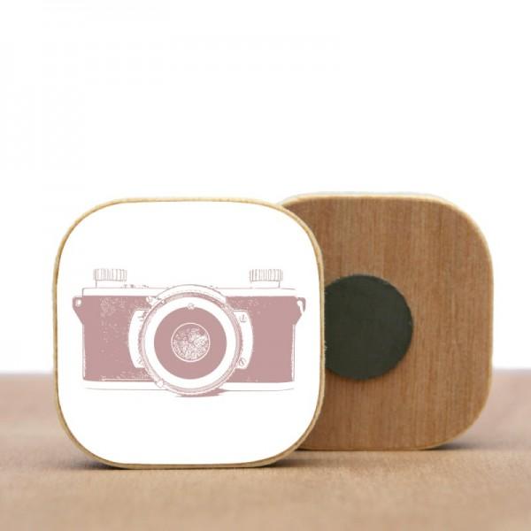 Holz Magnet Kamera VERSCHIEDENE FARBEN