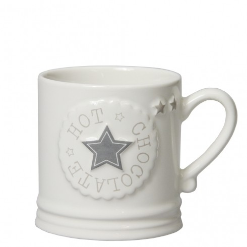 "Bastion Collections Mug Tasse ""Hot Chocolate Star"", large"